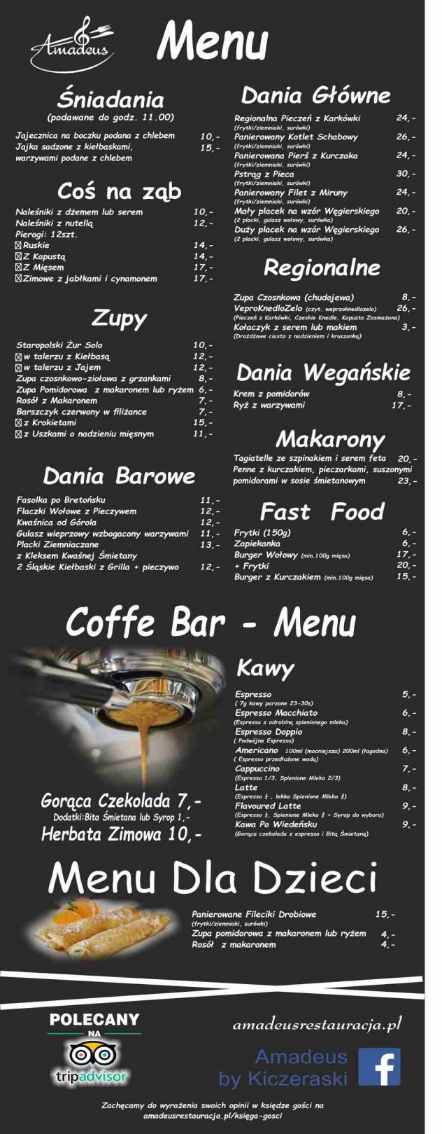 menu na stronę