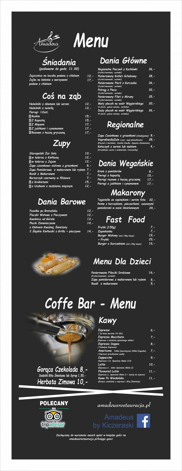 2019 menu gotowe